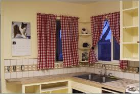 Red Swag Kitchen Curtains Red Kitchen Window Curtains Free Image