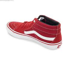 vans shoes red and white. cheap vans sk8 mid pro scarlet red \u0026 white skate shoes red and /