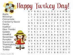 20 Thanksgiving Word Searches | Kitty Baby Love