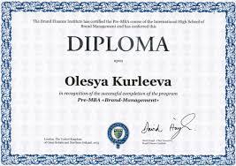 mini mba Бренд менеджмент  diploma pre mba brand management