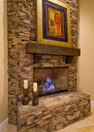 stacked rock fireplace i love the mantle