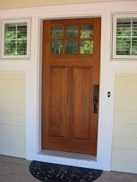 Front Entry Cottage Style Stained Front Door Troxel Custom - Custom wood exterior doors