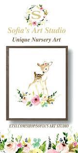 baby deer nursery baby deer fawn so cute flower crown woodland nursery nursery prints cute deer baby girl deer crib bedding sets