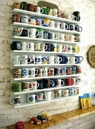 coffee mug rack wall mounted mug rack coffee mug rack best ideas on wall hanger holder
