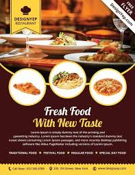 Flyers Design Templates For Restaurant Restaurant Free Psd Flyer