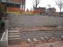 Small Picture Concrete Block Retaining Wall Design Withal Cinder Block Retaining