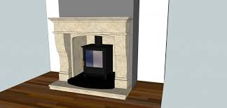 finish product is a fully bespoke limestone surround with beveled limestone chamber limestone hearth and black abyss leather granite double hearth
