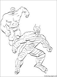 Red Hulk Coloring Pages Free Printable For Kids Hogan The Drawing