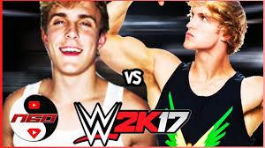 jake paul wrestling. Beautiful Jake Jake Paul Vs Logan  Extreme Rules WWE 2K17 With Wrestling T