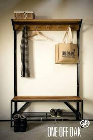 Coat Racks With Benches Interesting Coat And Shoe Rack Oak And Steel Coat Rack Bench Leanera Coat Shoe
