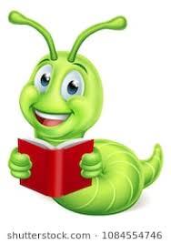 a cute caterpillar bookworm worm cartoon character education mascot reading a book