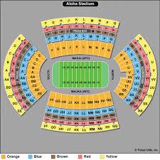 Aloha Stadium Seating Chart Concert 70 Studious Bsu Football Seating Chart