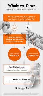 Life Insurance Types Comparison Chart Term Vs Whole Life Insurance What Is The Difference
