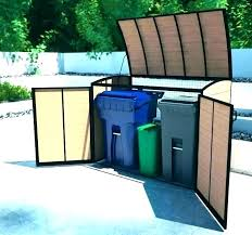 trash shed plans garbage can fence outside storage outdoor trash shed plans within refuse enclosure
