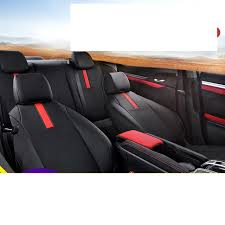 lsrtw2017 fiber leather car seat cover seat cushion for honda civic 2016 2017 2018 2019 10th civic