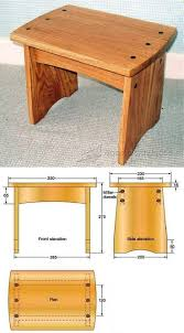 Dowelled Footstool Plans - Furniture Plans and Projects | WoodArchivist.com