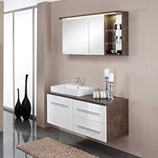 Pharao24 Badezimmer Kombination Mit Spiegelschrank Hochglanz Weiß
