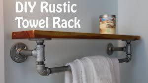 diy pallet iron pipe. DIY Rustic Iron Towel Rack And Shelf Diy Pallet Pipe O