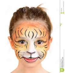 face painting tiger person childhood