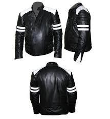 stylish mens white soft aniline leather jacket size