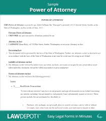 Power Of Attorney Power of Attorney Form Free POA Forms US LawDepot 1