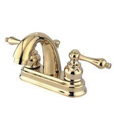 Brass Bathroom Faucet Kingston Brass Restoration 4 In Centerset 2 Handle Mid Arc