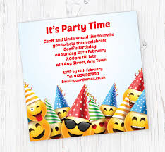 Free Online Birthday Invitations To Email Emoji Birthday Party Invitations