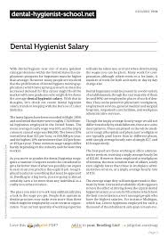 Dental Hygienist Salary
