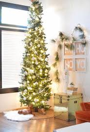 pencil Christmas tree ideas small apartment decorating ideas corner christmas  tree