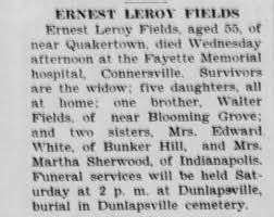 Obituary for ERNEST LEROY FIELDS (Aged 53) - Newspapers.com