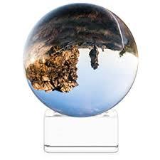 Navaris Crystal <b>Clear</b> Glass Ball - 60mm <b>Transparent K9 Globe</b> for ...