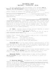 Residential Lease Residential Lease Sample Resume Resume