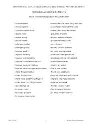 resume accomplishments sample writing accomplishments 2 resume achievements  examples high school .