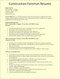 Construction Supervisor Resume Construction Supervisor Resume Format Best Of Site Supervisor Resume 6