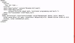 printing text pretty printing html