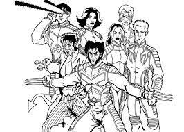 Small Picture Best X Men Coloring Pages 67 For Your Free Coloring Book with X