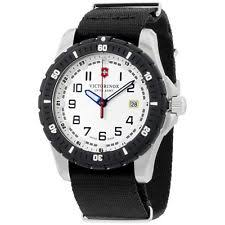 mens victorinox swiss army watch victorinox swiss army white dial black nylon men s watch 2416761