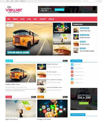 Viewer Blogger Template Free Download