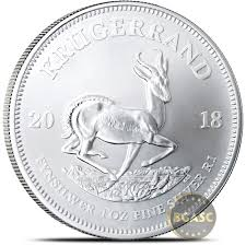 2018 1 Oz Silver Krugerrand South African Bullion Coin 999 Fine Brilliant Uncirculated First Year Of Issue