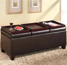 black ottoman tray medium size of round coffee table with leather square