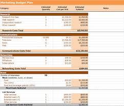 Marketing Budget Plan Free Marketing Budget Plan Templates Invoiceberry