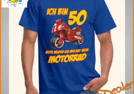 50 Geburtstag T Shirt Biker Comic Funshirtdealer