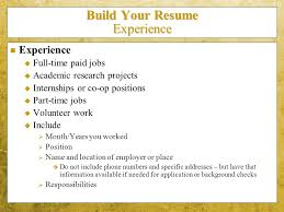 Best What Information Is Needed For A Resume Images - Simple .