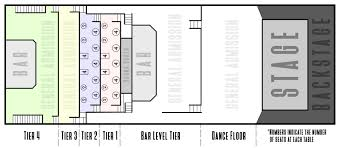 Venue Seating Chart Full House W Tables Bourbon Theatre