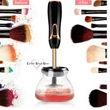 makeup brush cleaner and dryer machine black by cuddle shack