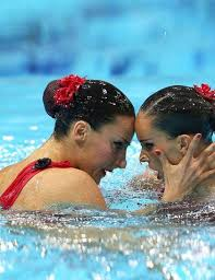 olympic hair the synchronised swimmers use gelatin to keep their hair in place