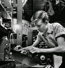 vintage everyday black and white pictures of american teenagers electrician jack harris 16 still in school picks up 40 to 50 in part time repair jobs