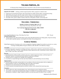 sample new graduate nurse resume new graduate nurse resume examples military bralicious co