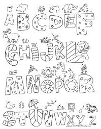 Alphabet Coloring Pages A Z Alphabet Coloring Pages A Z Free