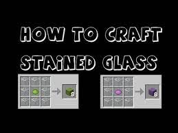 make stained glass in minecraft